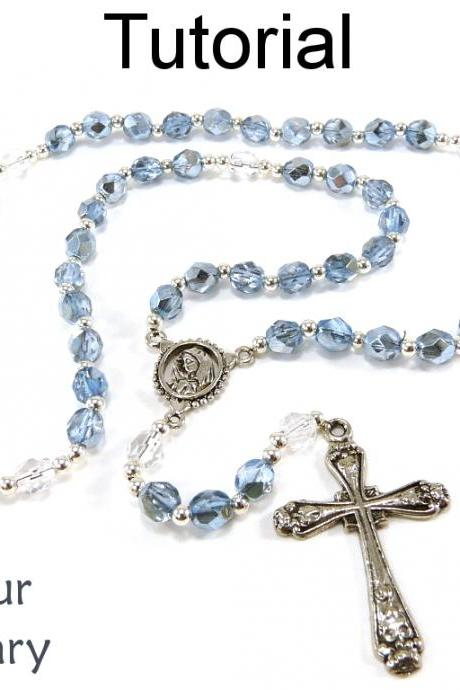 Beading Tutorial Pattern - Beaded Rosary - Cross Crucifix - Simple Bead Patterns - Make Your Own Rosary #14491