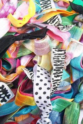 20 Hair Ties, The Grab Bag Mix by Lucky Girl