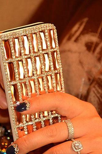 Bling iPhone 7 Plus leather wallet case, iPhone 6 6s Plus leather case, iPhone 5s SE leather wallet case, iPhone 5 5c leather cover, bling wallet case for samsung galaxy note 5 note 4 s7 edge s6 edge s5