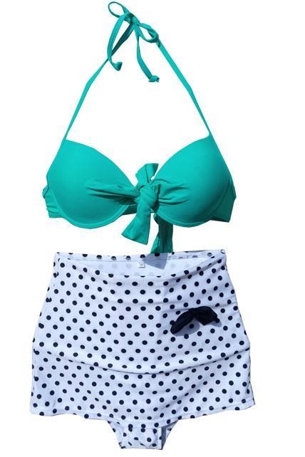 Adorable Bow and Polka dots Swimsuit