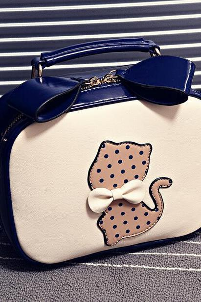 Bowknot printed portable bag OI305486