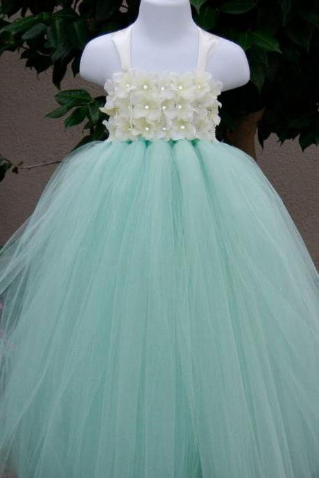 Mintgreen Tutu Dress 2T,3T,4T,5T,6T,7T Wedding Mintgreen Dress