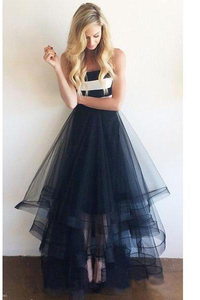navy prom dress, long prom dress, tulle prom dress, cheap prom dress, prom dress 2015, affordable prom dress, party evening dress, 1434