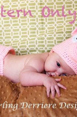 Pig Hat and Diaper Cover Crochet Pattern