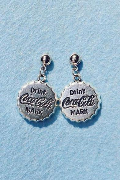 Coca-Cola cap Earrings