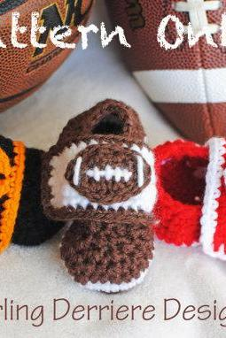 Sports Booties Crochet Pattern for Football, Baseball, and Basketball