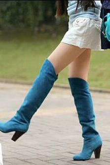 Qiu dong long knee-high boots, thick with high heel boots, high boots, knight