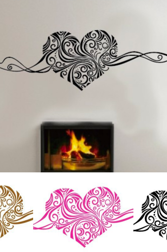 *Free Shipping* SIZE:150 x 40cm Romantic Heart removable wall stickers home decor wall art LOVE wedding decoration centerpieces family decals