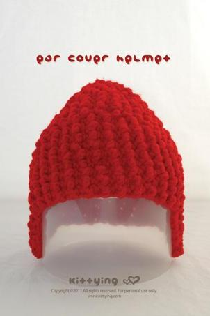 Ear Cover Wool Helmet Crochet PATTERN, SYMBOL DIAGRAM (pdf) by kittying