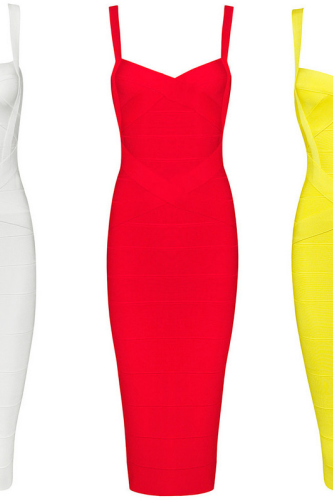 new strap sweatheart women fashion sexy attractive cute elegant midi evening party bandage Dresses