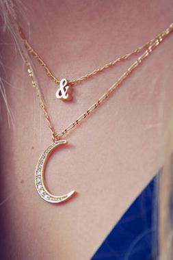 Cute Moon Charmed Necklace