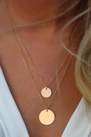 Gorgeous Double Layer Golden Necklace