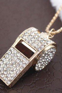 DIAMOND FASHION WHISTLE NECKLACE