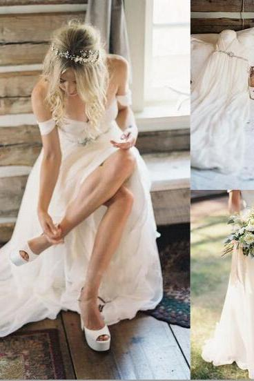 Real Made Charming V-Neck Wedding Dresses,Sexy Wedding Dresses, A-Line Wedding Dress,Wedding Dresses, Dresses For Wedding On Sale