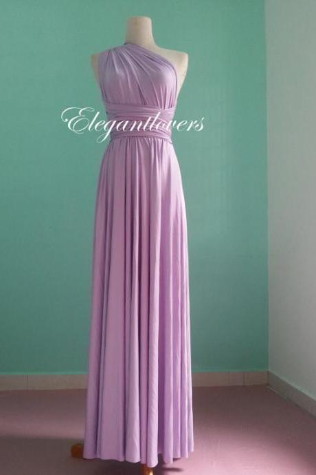 Lavender Wedding Dress Bridesmaid Dress Infinity Dress Wrap Dress Formal Dress Sexy Evening Dress Cocktail Dress Party Dress