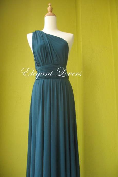 Teal Color Bridesmaid Dress Infinity Dress Wrap Dress Formal Dress Sexy Evening Dress Cocktail Dress Party Dress