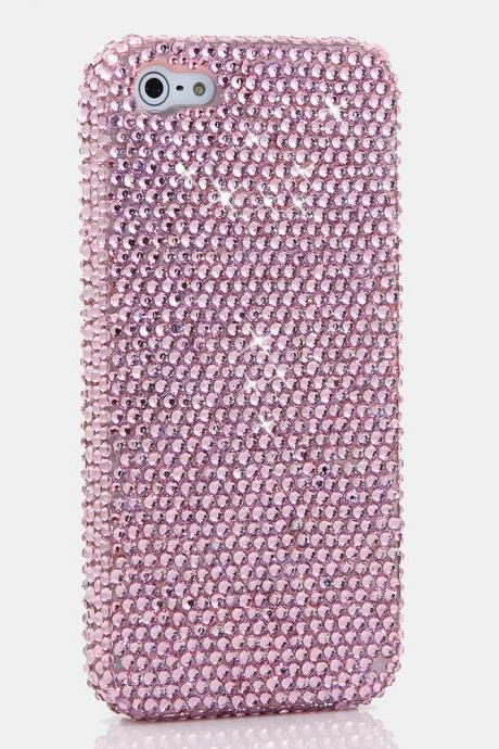 Bling Crystals Phone Case for iPhone 6 / 6s, iPhone 6 / 6s PLUS, iPhone 4, 5, 5S, 5C, Samsung Note 2, Note 3, Note 4, Galaxy S3, S4, S5, S6, S6 Edge, HTC ONE M9 (SIMPLE BABY PINK DESIGN) By LuxAddiction