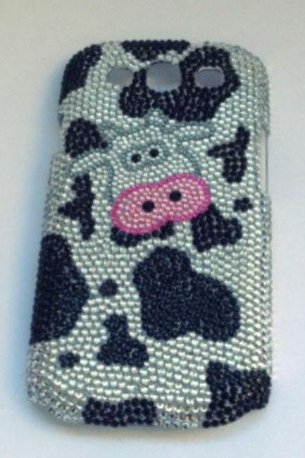 Cow bling case rhinestone case