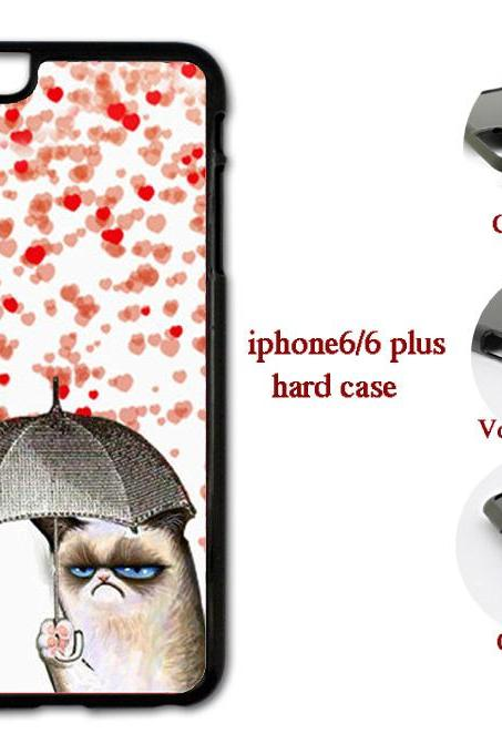 An Umbrella Cat Hard case cover for iPhone 4/4s/5/5s/6/6plus case Samsung Galaxy S3/S4 /S5 Note2/3/4 Case