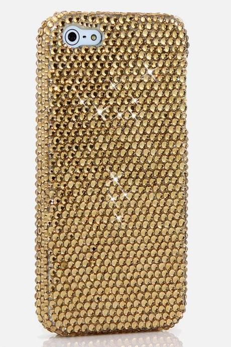 Bling Crystals Phone Case for iPhone 6 / 6s, iPhone 6 / 6s PLUS, iPhone 4, 5, 5S, 5C, Samsung Note 2, Note 3, Note 4, Galaxy S3, S4, S5, S6, S6 Edge, HTC ONE M9 (ROYAL GOLD DESIGN) By LuxAddiction