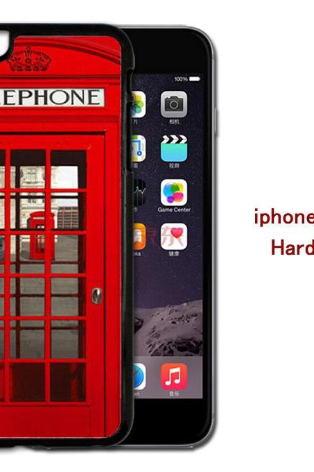 The Red Phone Booth Hard case cover for iPhone 4/4s/5/5s/6/6plus case Samsung Galaxy S3/S4 /S5 Note2/3/4 Case