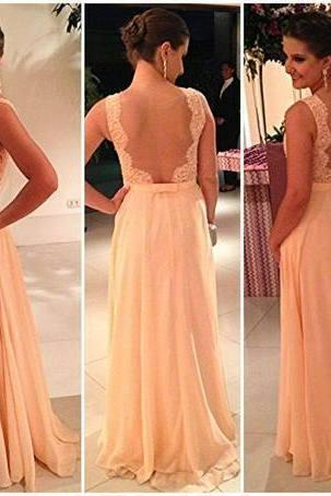Long Prom Dresses, Straps Prom Gowns,Beaded Evening Dresses, Backless Evening Gowns, Cocktail Dresses Custom