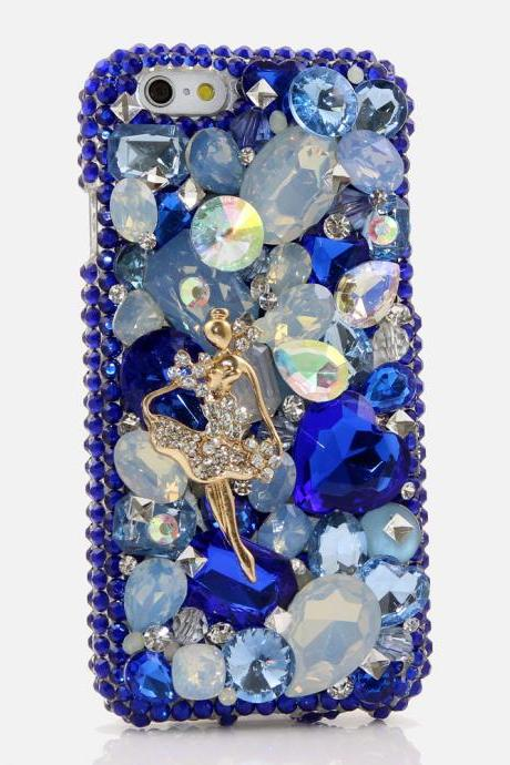 Bling Crystals Phone Case for iPhone 6 / 6s, iPhone 6 / 6s PLUS, iPhone 4, 5, 5S, 5C, Samsung Note 2, Note 3, Note 4, Galaxy S3, S4, S5, S6, S6 Edge, HTC ONE M9 (THE DANCER DESIGN) By LuxAddiction