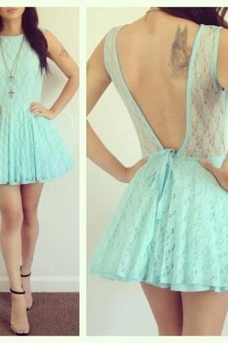 Hd08155 Charming Homecoming Dress,Lace Homecoming Dress,Backless Homecoming Dress, Short Cute Homecoming Dress