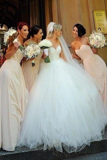 A Line Wedding Dress, Tulle Wedding Dresses, Ivory Wedding Dress, Simple Bridal Dresses, Cheap Bridal Gowns, Lace Wedding Ball Gowns