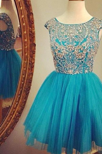 Teal Green Short Homecoming Dress, Vintage Homecoming Dresses, Cheap Graduation Dresses, Tulle Homecoming Dress, Cocktail Dresses