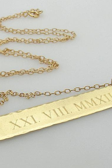 wedding necklace jewelry roman date numeral sale product couples