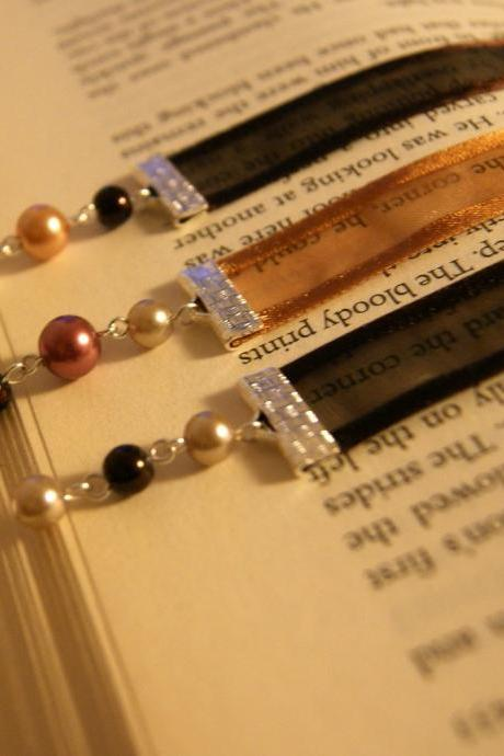 Set of Three Ribbon Bookmarks