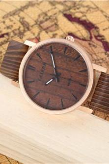Wood pattern leather watch, Style wood pattern watch, leather watch, bracelet watch, vintage watch, retro watch, woman watch, lady watch, girl watch, unisex watch, AP00434