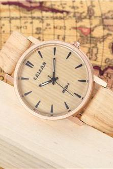 Wood pattern leather watch, Style wood pattern watch, leather watch, bracelet watch, vintage watch, retro watch, woman watch, lady watch, girl watch, unisex watch, AP00438