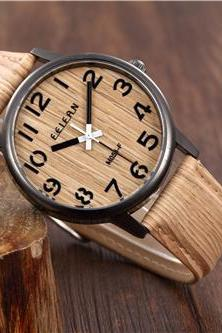 Wood pattern leather watch, Style wood pattern watch, leather watch, bracelet watch, vintage watch, retro watch, woman watch, lady watch, girl watch, unisex watch, AP00478