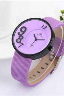 New leather watch, purple leather watch, bracelet watch, vintage watch, retro watch, woman watch, lady watch, girl watch, unisex watch, AP00492