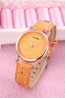 Flower casual fashion leather watch, bracelet watch, vintage watch, retro watch, woman watch, lady watch, girl watch, unisex watch, AP00531