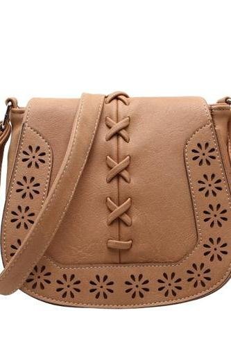 Hollow Flower Weave Shoulder Bag