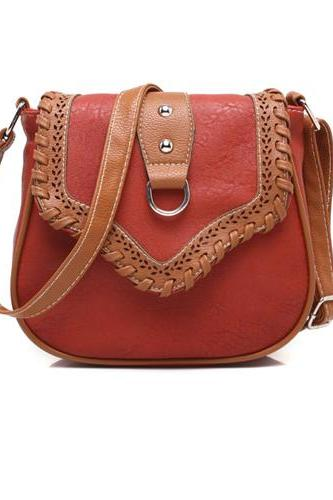 Mixed Color Shoulder Bag Ladies Saddle Messenger Bag