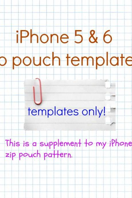 iPhone 5 & 6 Zip Pouch Template