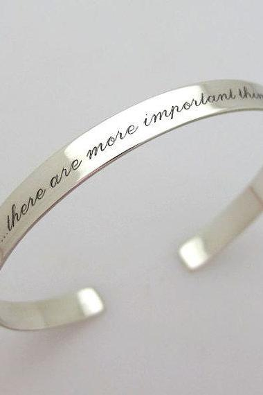 Inspirational Cuff Bracelet - Sterling Silver Cuff - Personalized Bracelet - Skinny Stacking cuff