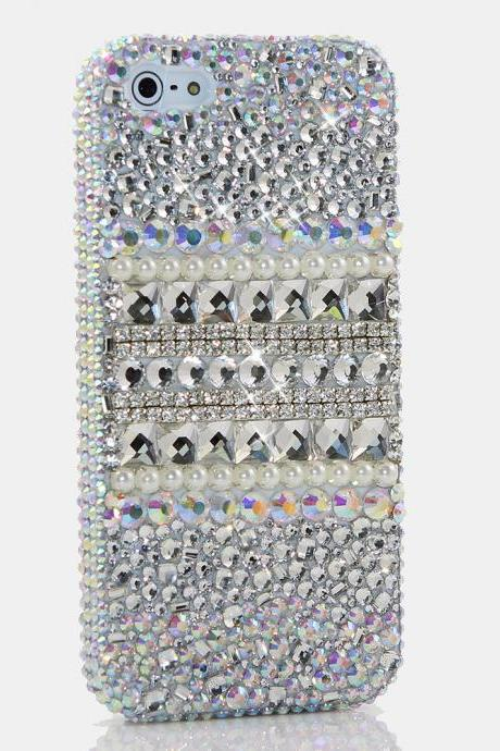 Bling Crystals Phone Case for iPhone 6 / 6s, iPhone 6 / 6s PLUS, iPhone 4, 5, 5S, 5C, Samsung Note 2, Note 3, Note 4, Galaxy S3, S4, S5, S6, S6 Edge, HTC ONE M9 (SHINE BRIGHT LIKE A DIAMOND DESIGN) By LuxAddiction