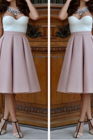 ELEGANT HIGH WAIST SLEEVELESS SKIRTS