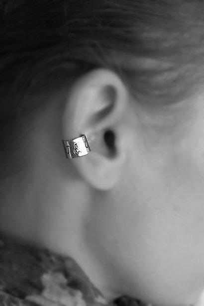 Personalized Cuff Ear Wire - Customized Ear Cuff - Initials Engraved Earring - Customized Earring Cuff