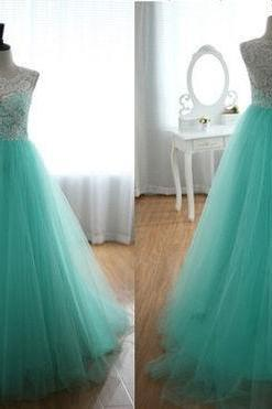 long prom dress, mint prom dress, A-line prom dress, party prom dress, cheap prom dress, long evening dress, dress gown, 14148