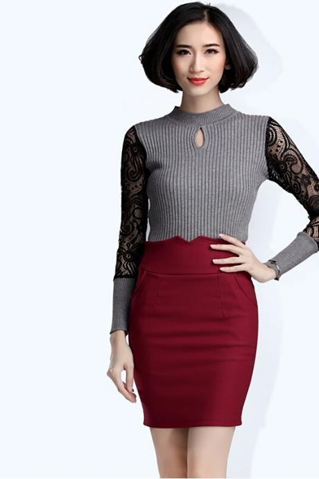 2015 Fall High Waist Mini Skirt Casual One Pace Sexy Skirt