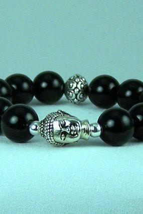 Freeing Black Onyx Meditation Bracelet, Yoga Bracelet, Energy Bracelet, Free Shipping, Gift Ideas