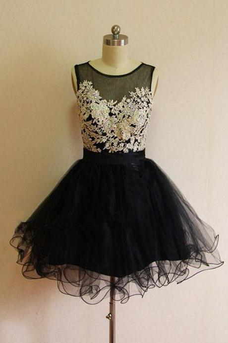 short homecoming dress, black homecoming dress, junior homecoming dress, short lace prom dress, party dress for girls, little black dress, 14166