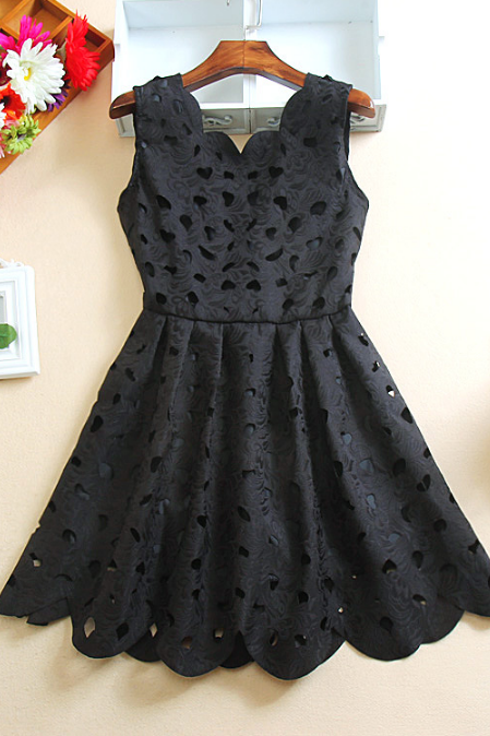 Little black dress with cut out details
