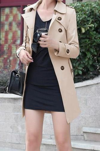 Fashion Buttons Coat